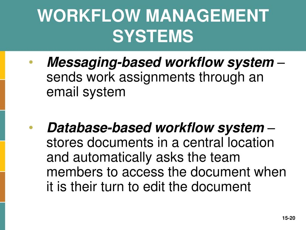 WORKFLOW MANAGEMENT SYSTEMS