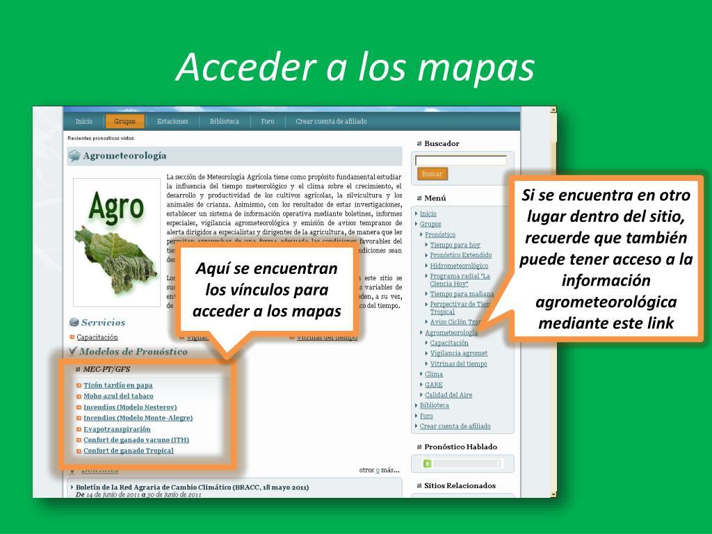 Acceder a los mapas