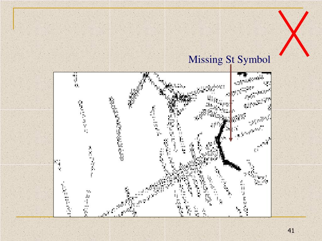 Missing St Symbol