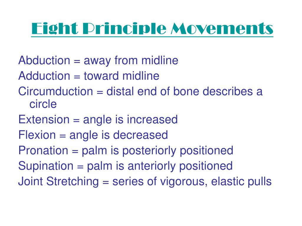 Eight Principle Movements