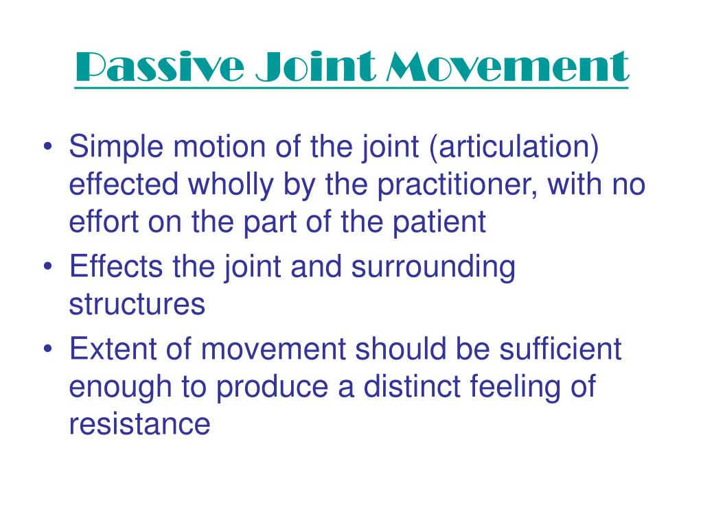 Passive Joint Movement