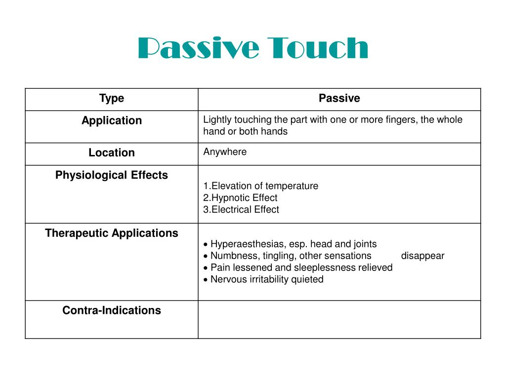 Passive Touch
