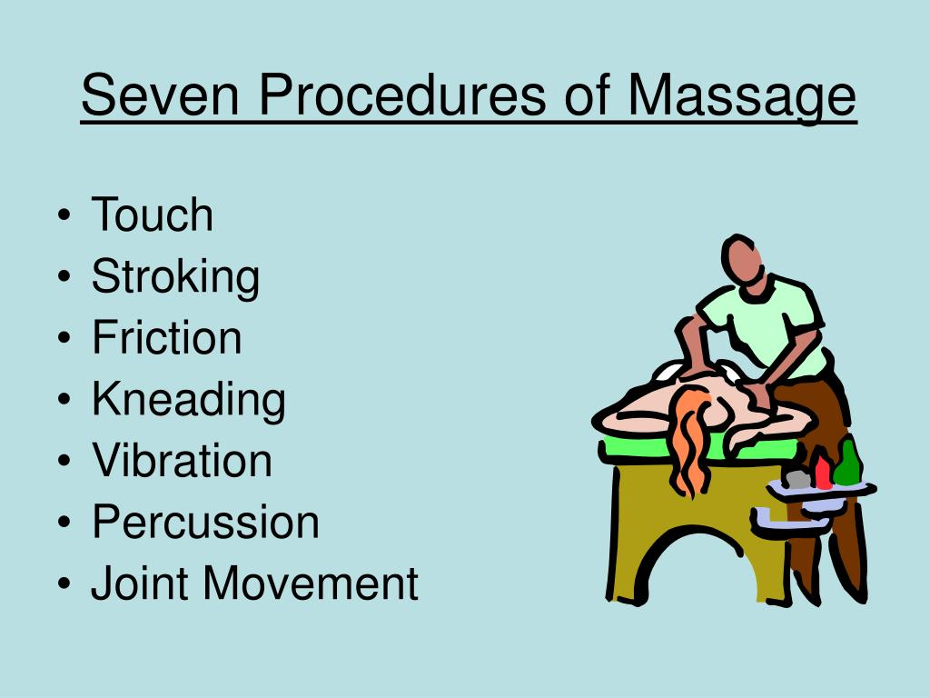 Seven Procedures of Massage