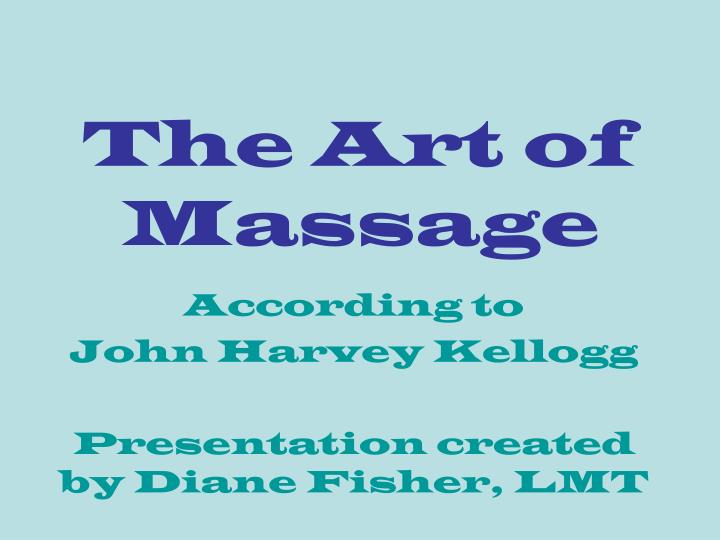The art of massage l.jpg