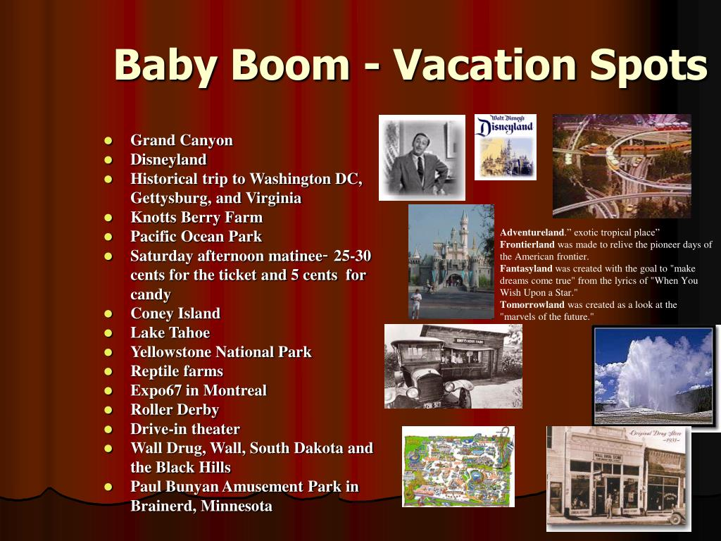 Baby Boom - Vacation Spots