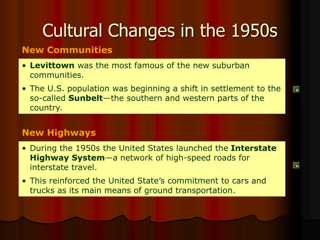 Cultural Changes in the 1950s