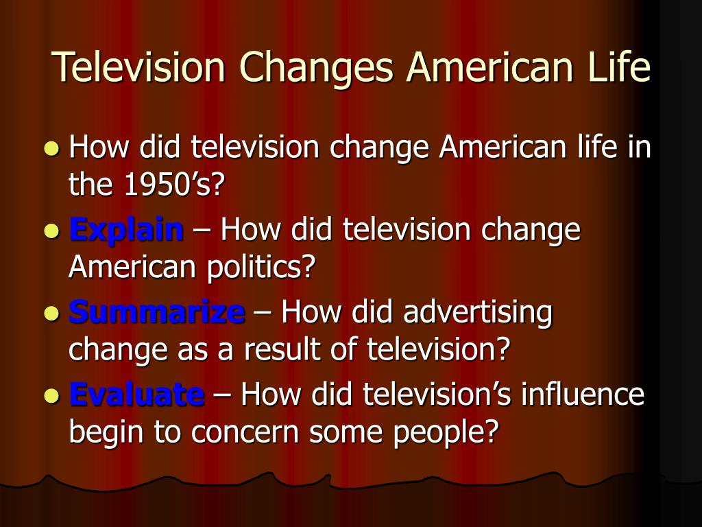 Television Changes American Life