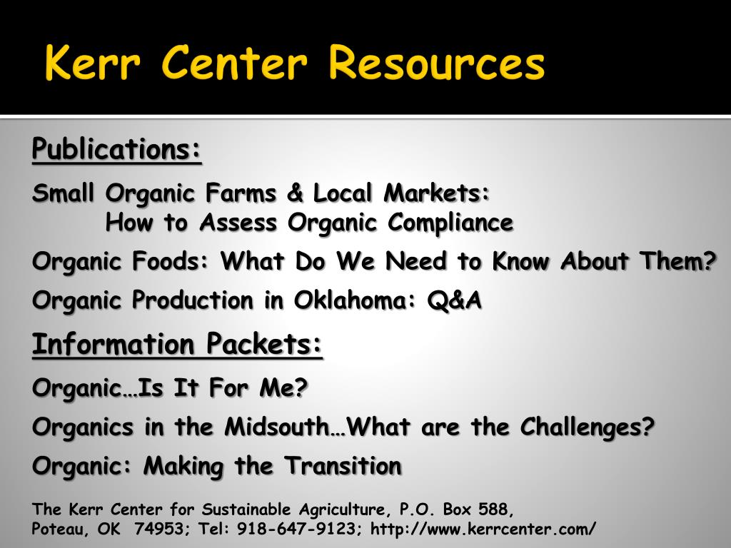 Kerr Center Resources