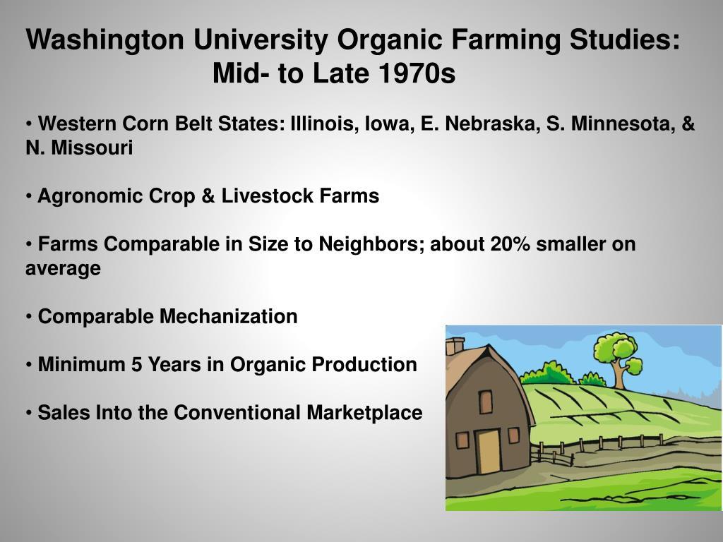 Washington University Organic Farming Studies: