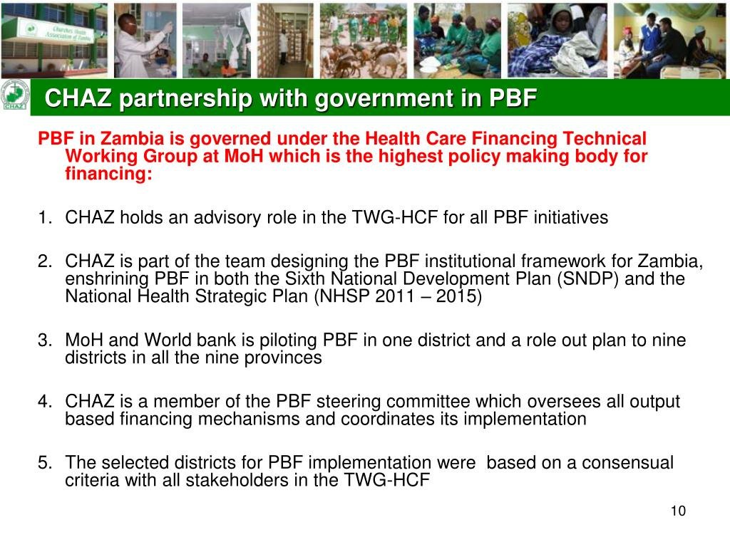 CHAZ partnership with government in PBF