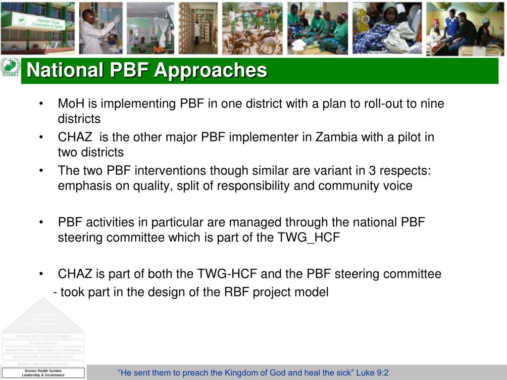 National PBF Approaches
