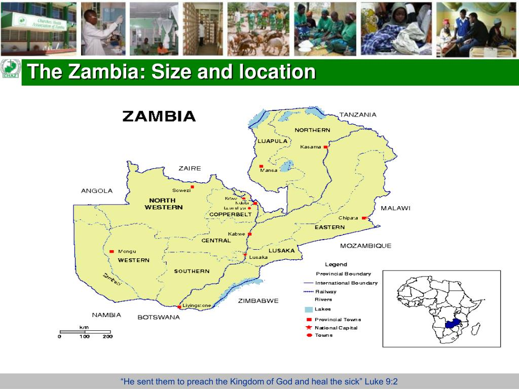 The Zambia: Size and location