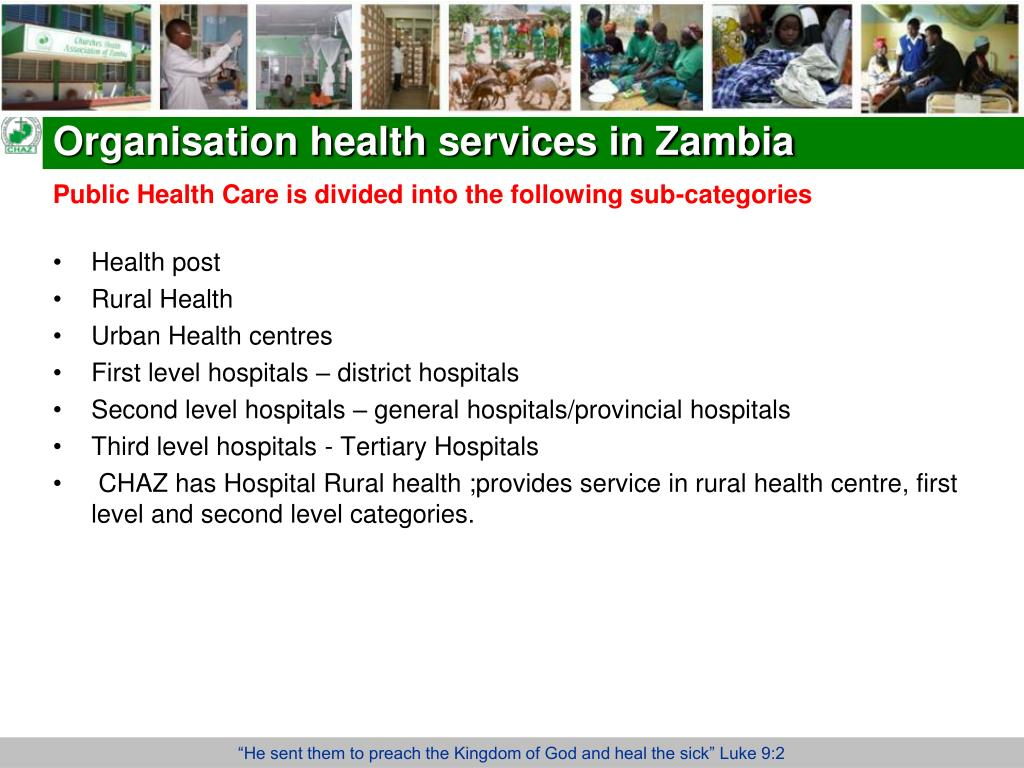 Organisation health services in Zambia