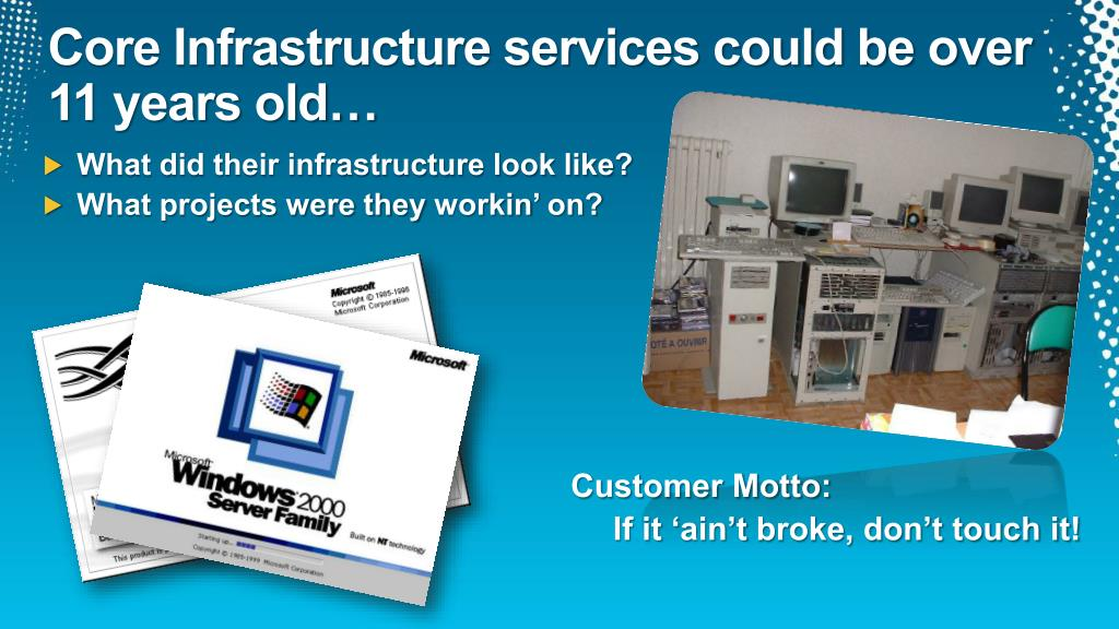 Core Infrastructure services could be over