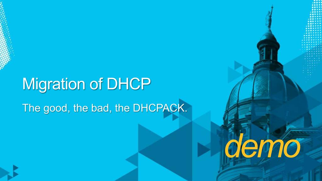 Migration of DHCP