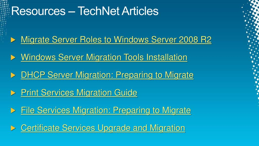 Resources – TechNet Articles