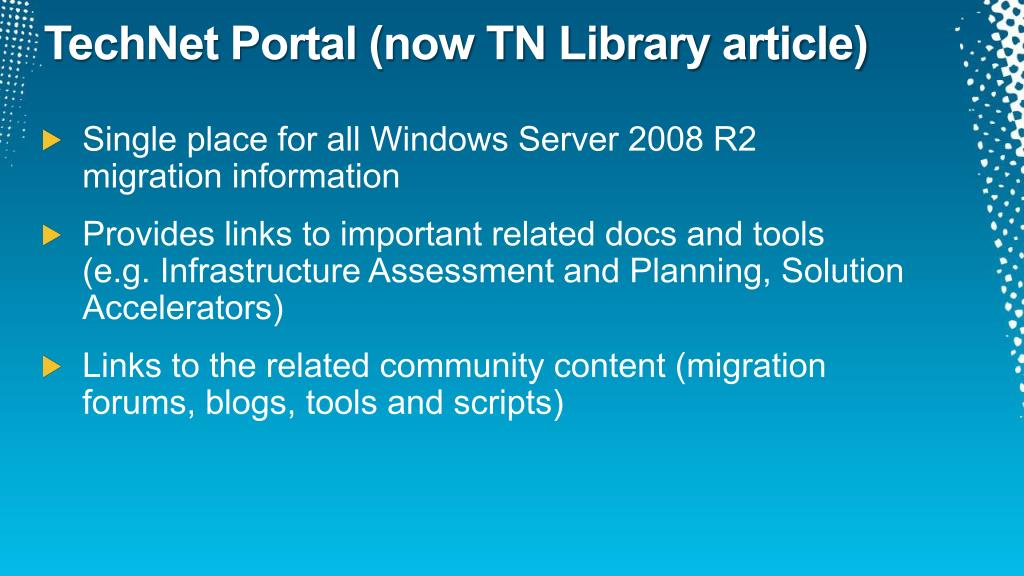 TechNet Portal (now TN Library article)