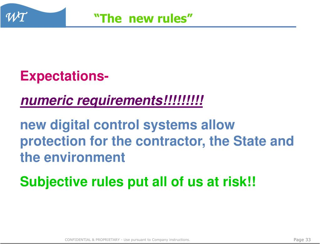 """The  new rules"""