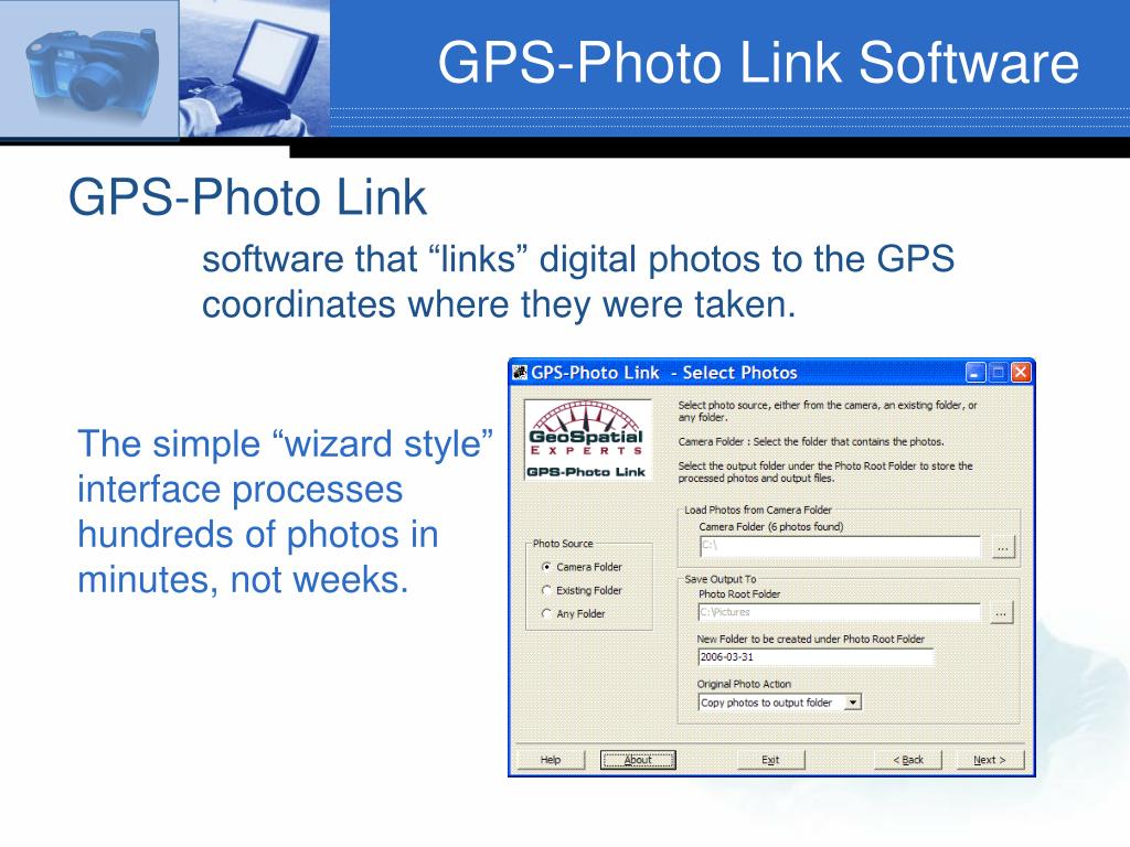 GPS-Photo Link Software
