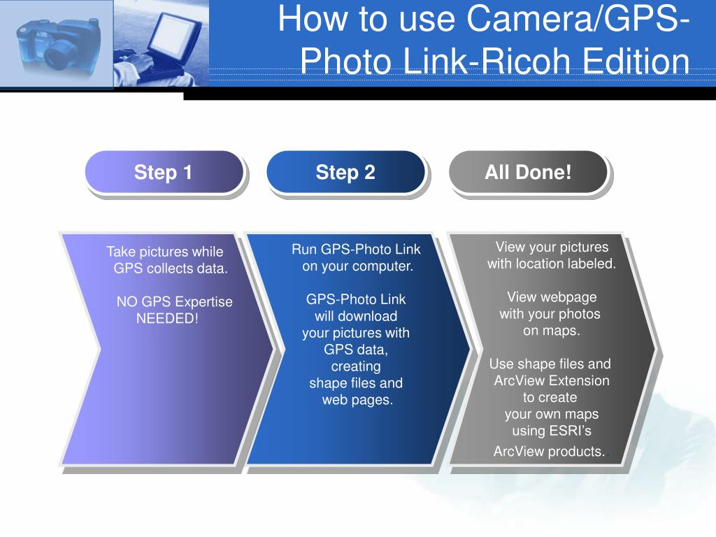 How to use Camera/GPS-Photo Link-Ricoh Edition