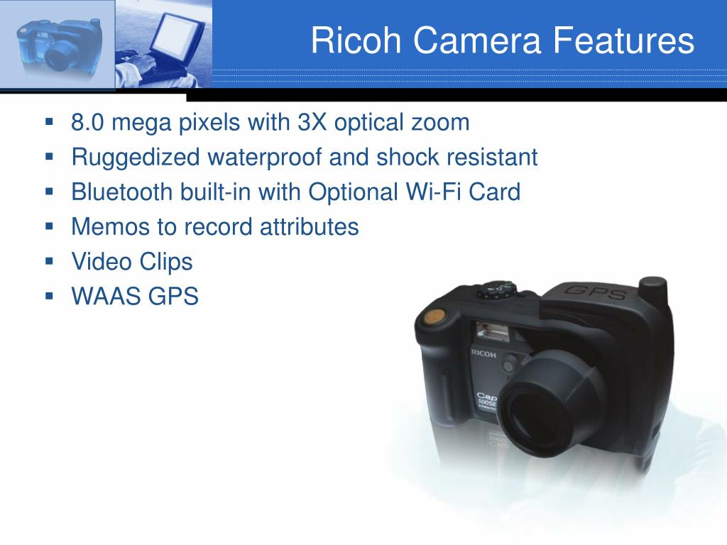 Ricoh Camera Features