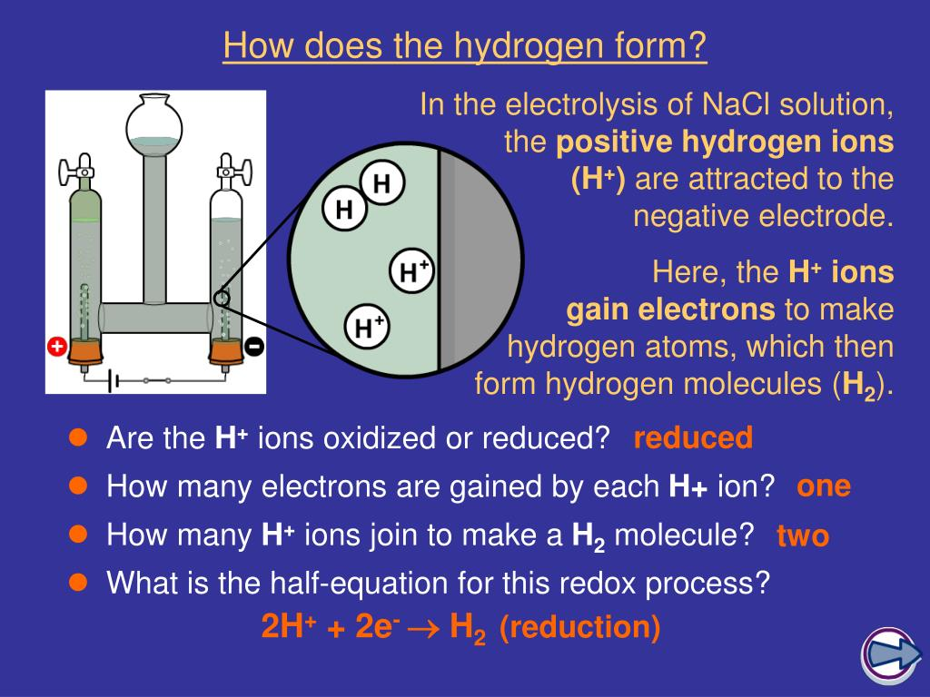 How does the hydrogen form?