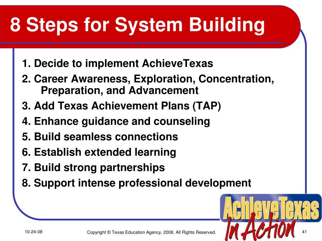 8 Steps for System Building