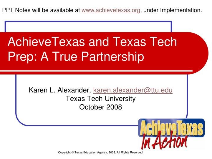 Achievetexas and texas tech prep a true partnership l.jpg