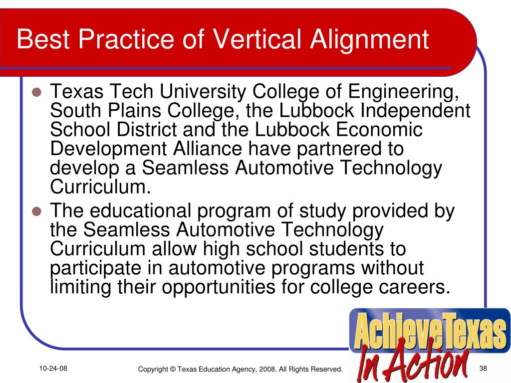Best Practice of Vertical Alignment