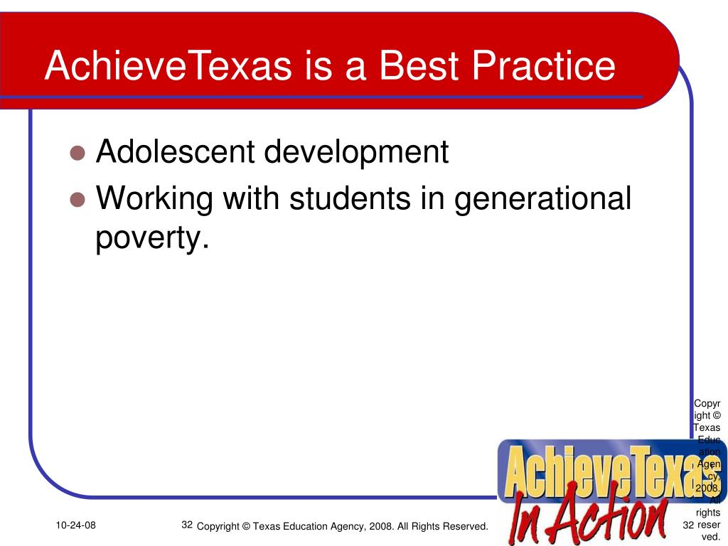 Copyright © Texas Education Agency, 2008.  All rights reserved.