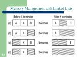 memory management with linked lists