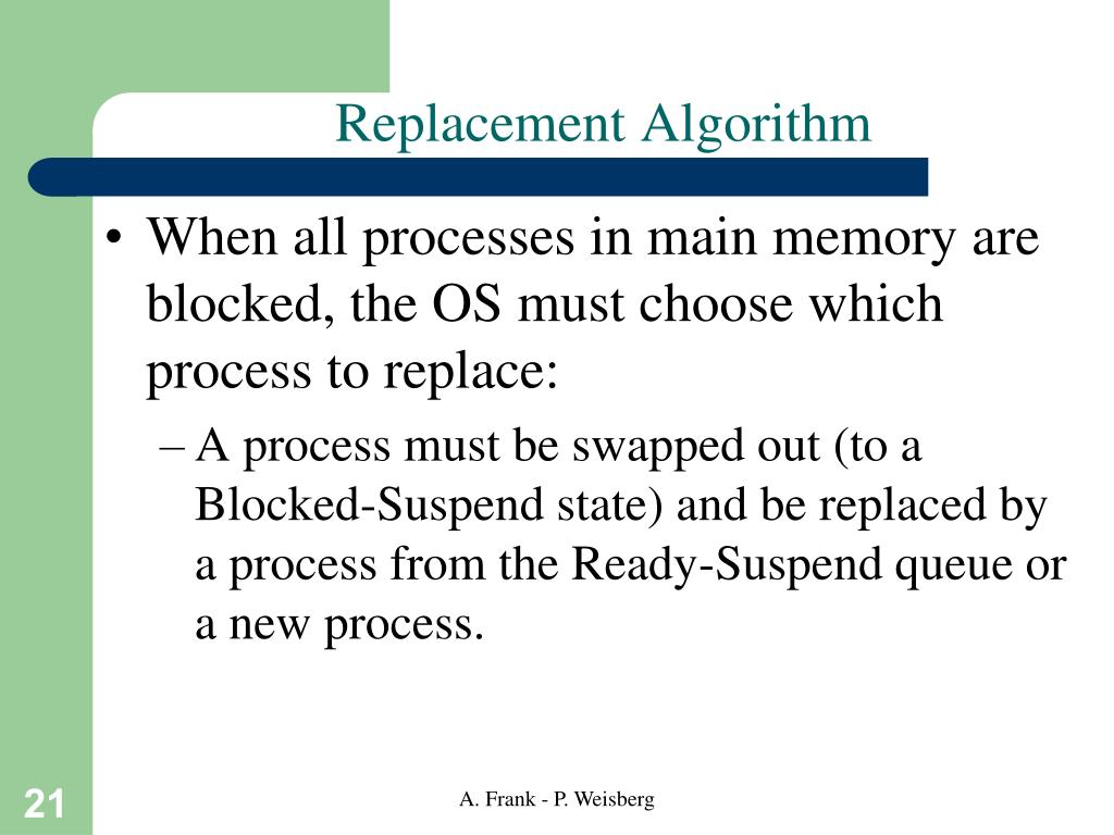 Replacement Algorithm