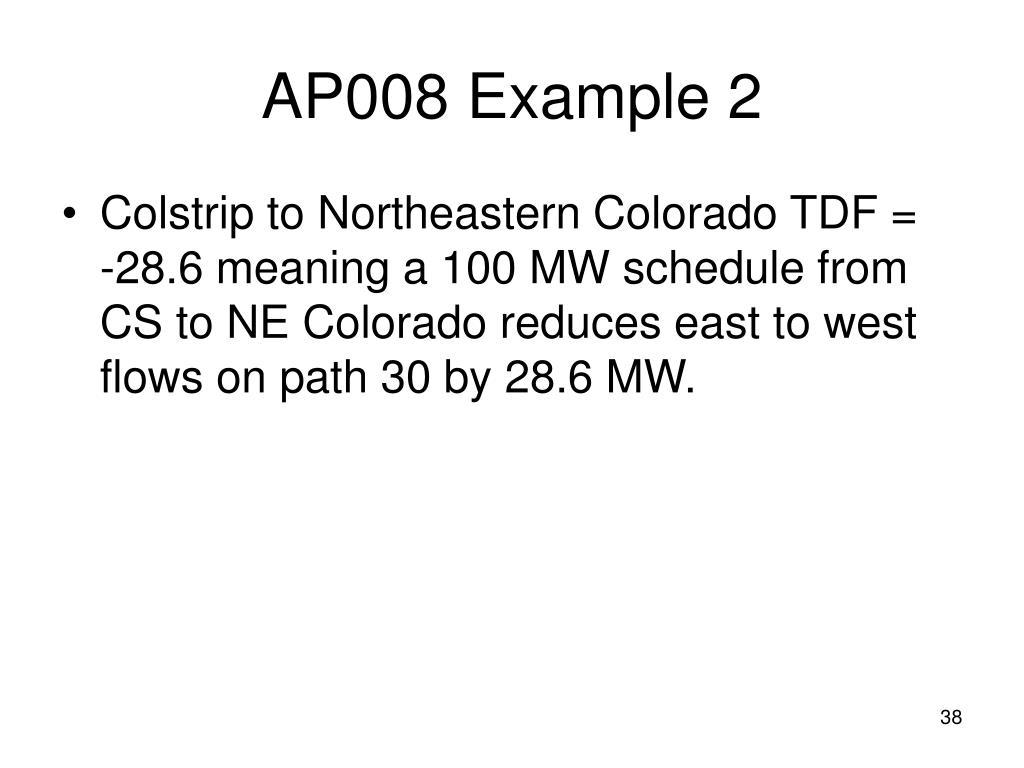 AP008 Example 2