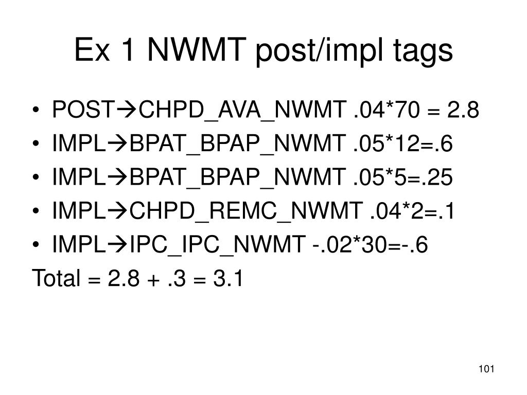 Ex 1 NWMT post/impl tags