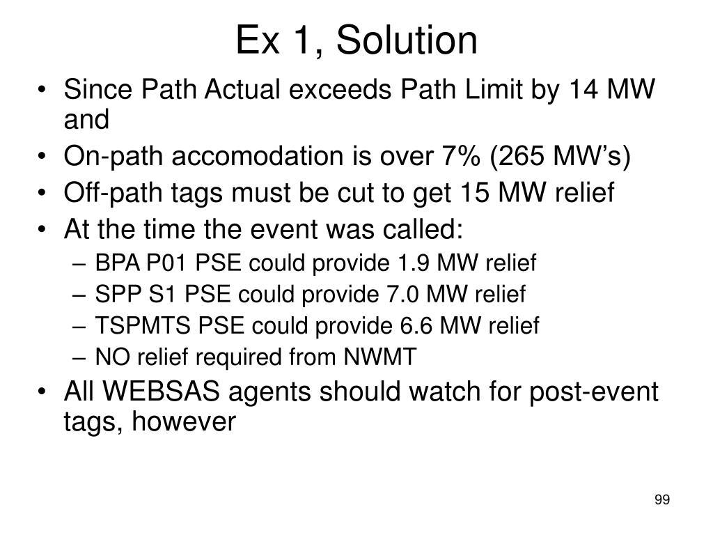 Ex 1, Solution