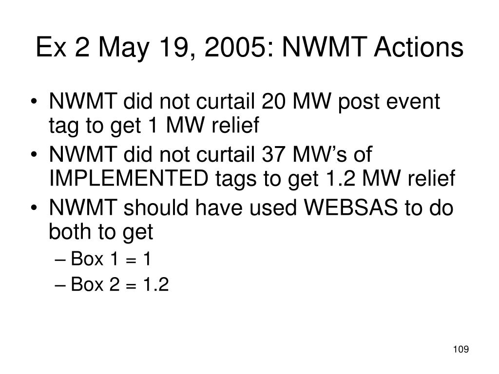 Ex 2 May 19, 2005: NWMT Actions