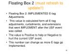 floating box 2 must refresh to update