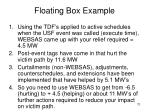 floating box example