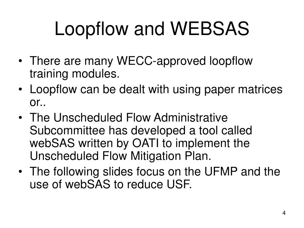 Loopflow and WEBSAS
