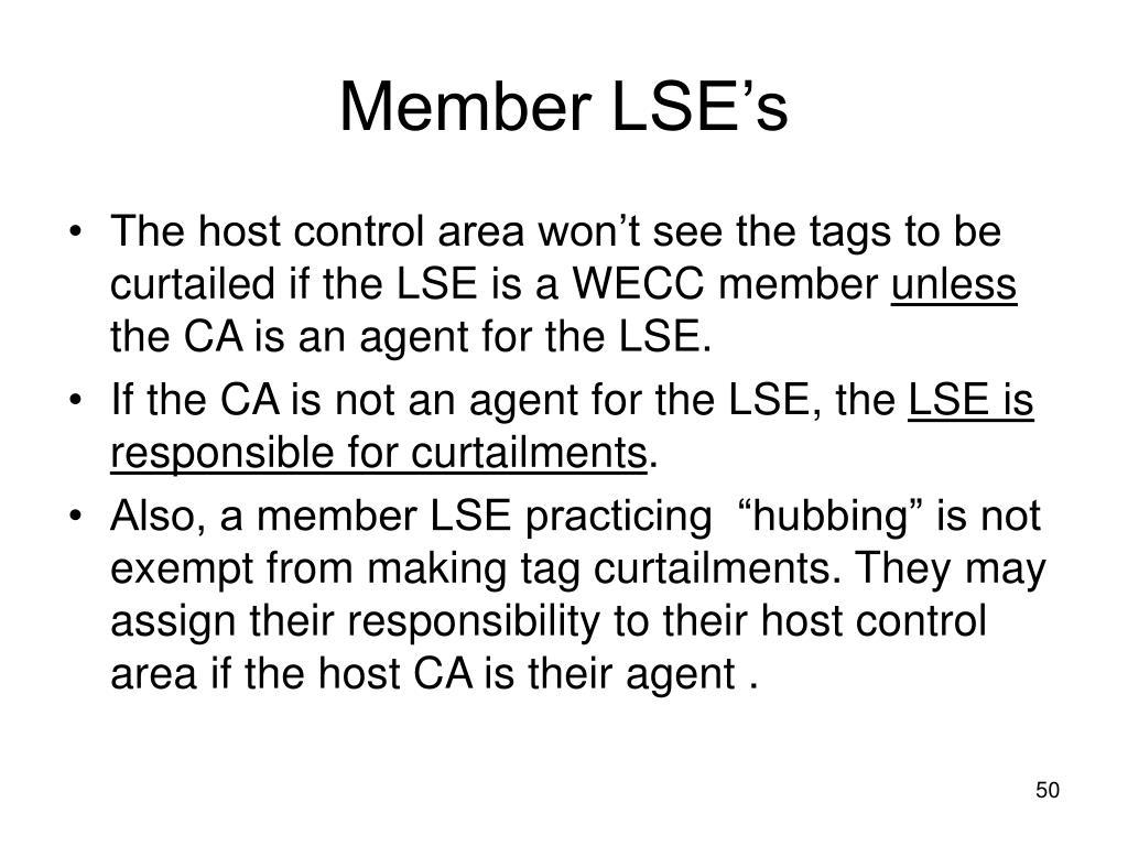 Member LSE's