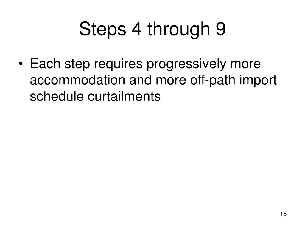 Steps 4 through 9