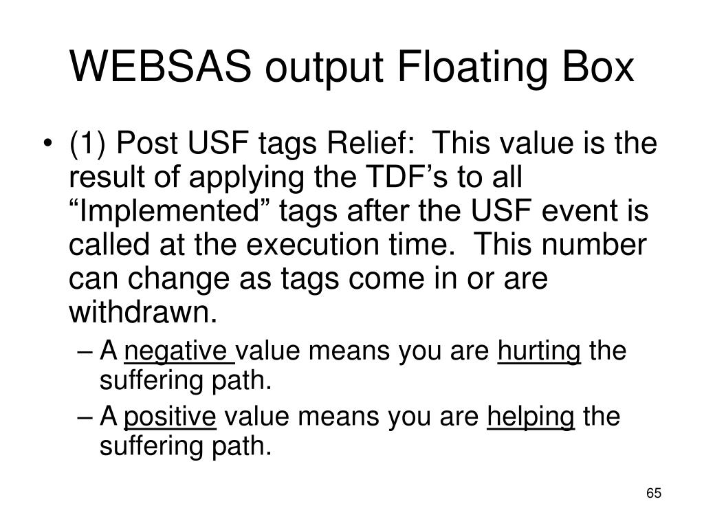 WEBSAS output Floating Box