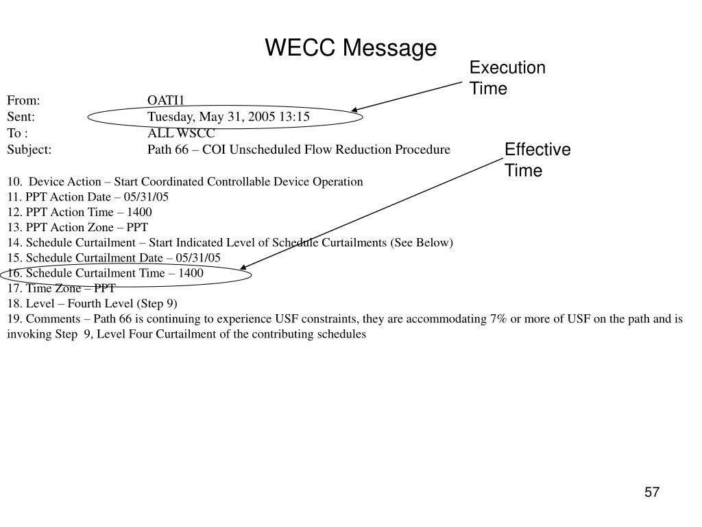 WECC Message
