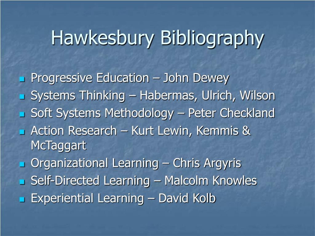 Hawkesbury Bibliography