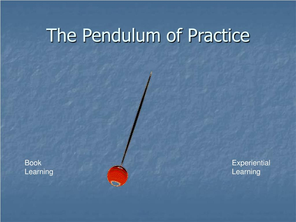 The Pendulum of Practice