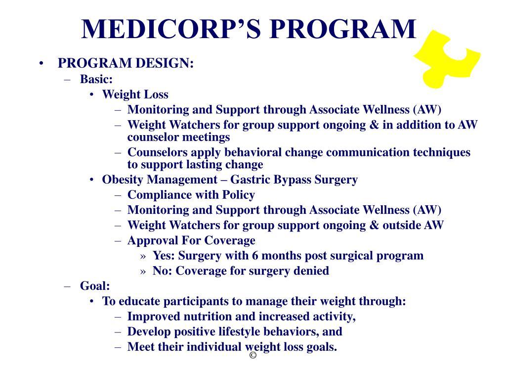 MEDICORP'S PROGRAM