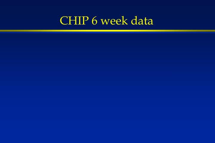 CHIP 6 week data