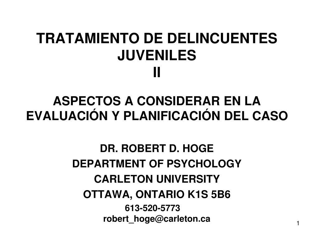 Prevencion y tratamiento de la delincuenciaTEMA 6