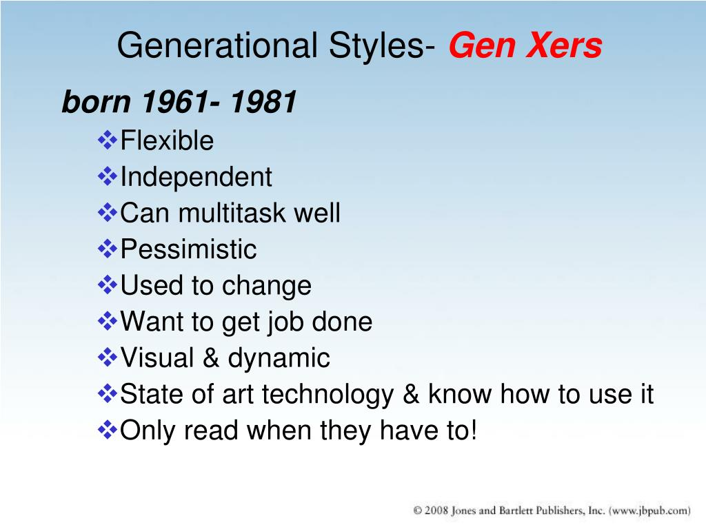 """learning styles of the generation y Generations: what are the different  there are no significant differences in the """"working styles"""" of boomers, generation  we'd have a learning curve."""