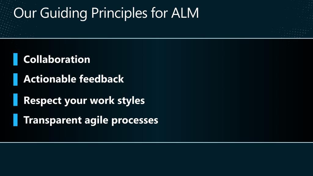 Our Guiding Principles for ALM